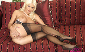 Like Legs Carol Jordan Busty Blonde Carol In Stockings And Heels Like Legs