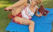 Like Legs 525046 Kathy Winters Blonde Kathy Winters Teasing Outdoors In Vintage Stockings Like Legs