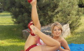 Like Legs Kathy Winters Blonde Kathy Winters Teasing Outdoors In Vintage Stockings Like Legs