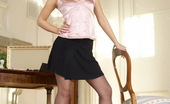 Like Legs 525104 Simona Blonde Simona Teasing In Sheer Dark Nylons Like Legs