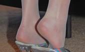 Kelly's Foot Fetish Kelly Anderson White Sexmas Stockings Kelly's Foot Fetish