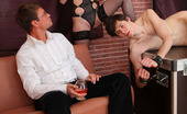 Porn Films 3D 527373 Sexy Mistress Fucked Hard Naughty Blonde Chick In Sexy Uniform And Tight-Fitting Black Stockings Which Look Nice On Her Amazingly Long Legs And Her Enslaved Boyfriend Were Playing Bondage Games Before Rich Guy. The Spectacled Man Becomes Turned On From Th