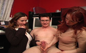 CFNM Max Janessa Jordan & MeganWhen Their Boss Called Them To Tell Them That He Couldn'T Choose Which Of The Assistants To Take To Europe With Him, Janessa And Megan Decided To Make The Process A Little Easier For Him By Stripping Him Down And Having A Contest To
