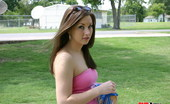 GND Amy Amy Flashes Her Ass And Tiny Thong Out In A Public Park GND Amy