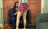 Girls For Old Men 529130 Alana & Karl Girlie Flashing Upskirt Aching To Lure An Older Worker Into Wet Muff-Diving Girls For Old Men