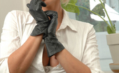 Fetish Wives Lucy Zara Leather Gloves Fetish Wives