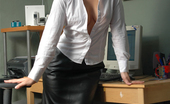 Fetish Wives Sammy Office Leather Fetish Wives
