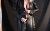 Fetish Wives Sandy Leather Catsuit Fetish Wives