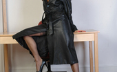 Fetish Wives Cindy Long Leather Coat Fetish Wives