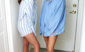Ashlee And Serena Ashlee & Serena Dressed Up In Dads Shirts Ashlee And Serena