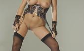 Stockings On Pornstars Chiara Chiara In Black Thigh Highs On The Sofa Stockings On Pornstars