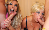 Blondie Blow Uncut Cum Loving Blondie And Her Slutty Friend Suck On Two Hard Cocks And Then Get Fucked. Blondie Blow Uncut