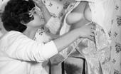 Vintage Flash Archive 534680 1960s Porn - Two British Brunette Lezbos In Nylons! Vintage Flash Archive