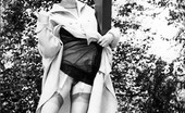 Vintage Flash Archive 1960s Nyloned Brunettes Strip In The Woods! Vintage Flash Archive