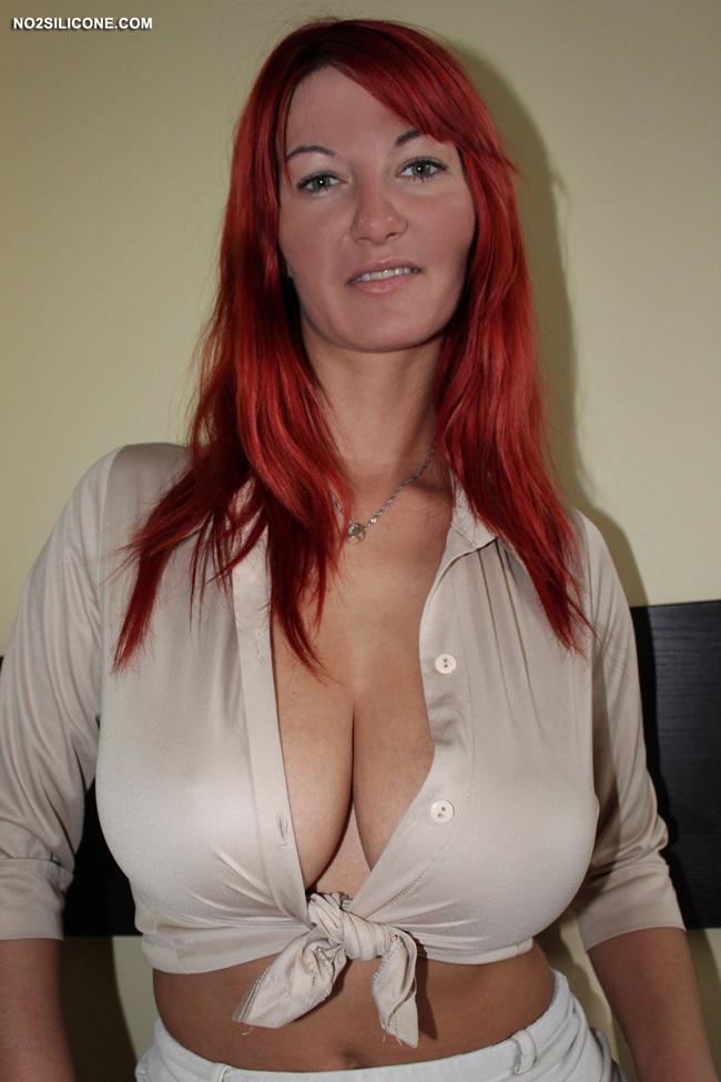 Big busty redhead tit