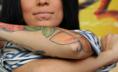 No 2 Silicone 537614 Ilona Busty Tattoo Girl Tattoo Girl Showing Her Natural Big Boobs And Feet Off No 2 Silicone