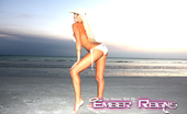 Ember At Home 537633 Freeones Swimsuit Ember Reigns Poses On The Beach While Wearing A Freeones Swim Suit. Ember At Home