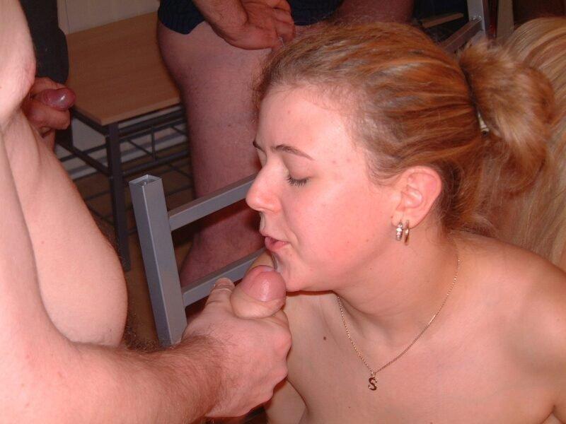 Amateur Brunette Wife Gangbang