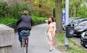 NIP Activity Damjana Naked Naughty Babe Shows Her Ass In Public NIP Activity