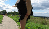 Dirty Public Nudity Darja Leans Back And Displays Her Pussy Dirty Public Nudity