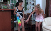 Pantyhose 1 Frances & Stephanie Voluptuous French Maid Putting On New Pantyhose Before Lesbian Intercourse Pantyhose 1
