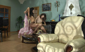 Pantyhose 1 Cora & Agatha Slim-Legged Cutie Gets Her Tan Tights Torn To Tatters For Lez Lickety-Split Pantyhose 1