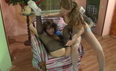 Pantyhose 1 Rosa & Vivien Lesbian Chick Pulls Down Her Pantyhose Savoring Tender Touch N Her Pussy Pantyhose 1