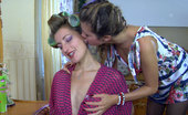 Pantyhose 1 Fiona Long-Legged Babe In Hair-Curlers Lured Into Morning Lesbian Pantyhose Sex Pantyhose 1