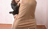 Pantyhose 1 Polina & Valya Naughty Chicks In Flesh-Colored Pantyhose Fervently Heating Up Each Other Pantyhose 1