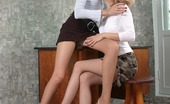 Pantyhose 1 Rosa & Elena Passionate Babe In Sheer-To-Waist Pantyhose Thrusting Her Tongue Into Pussy Pantyhose 1