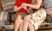 Pantyhose 1 Inga & Rosa Kinky Gals Pulling Down Barely Visible Tights To Enjoy Clit-To-Clit Action Pantyhose 1