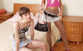 Pantyhose 1 Jess & Aurora Lascivious Chicks In Lacy Pantyhose Bending Over And Playing Numbers Game Pantyhose 1