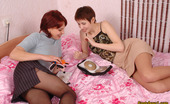 Pantyhose 1 Polina & Vera Lustful Babes Pulling Down Their Smooth Tights To Enjoy Girl-On-Girl Action Pantyhose 1