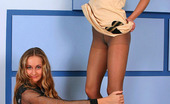 Pantyhose 1 Mathilda & Penelope Sizzling Hot Babes Fervently Rubbing Their Nyloned Asses Against Each Other Pantyhose 1
