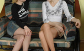 Pantyhose 1 Inga & Polina Lewd Gals With Playful Hands Can'T Help Stroking Each Other'S Nyloned Pinks Pantyhose 1