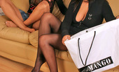 Pantyhose 1 Josephine & Fidelia Seductive Chicks Looking Forward To Play Steamy Nylon Games Right On Sofa Pantyhose 1