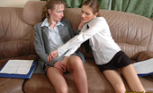 Pantyhose 1 Taise & Leila Sexy Business-Women In Seductive Hose Fervently Rubbing Against Each Other Pantyhose 1