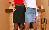 Pantyhose 1 544595 Sheila & Melanie Nasty Babes In Smooth Pantyhose Getting To 69 Games Right By The Fire-Place Pantyhose 1
