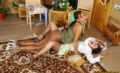 Pantyhose 1 Mirabel & Deborah Vivacious Chicks In Smooth Pantyhose Fighting For Fun Right On The Floor Pantyhose 1