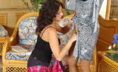 Pantyhose 1 Elinor & Moni Sweltering Brunette In Silky Tights Talking Cutie Into Fervent Kiss-N-Lick Pantyhose 1