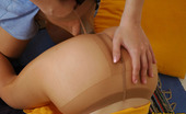 Pantyhose 1 Alina & Sophia Sizzling Hot Babes Eagerly Sucking Enormous Dildo Encased In Smooth Tights Pantyhose 1