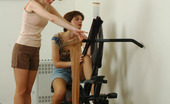 Pantyhose 1 Alina & Sophia Extremely Sexy Chicks Savoring Expensive Hosiery During Traing In The Gym Pantyhose 1