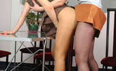 Pantyhose 1 Mima & Moni Sexy Babe Posing In Her Barely Visible Hose In Front Of A Heated Girlfriend Pantyhose 1