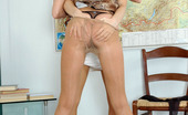 Pantyhose 1 Florence & Rosaline Pony-Tailed Coed Spying Upon Teacher Stroking Pussy With Pantyhosed Hands Pantyhose 1
