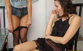 Pantyhose 1 Antoinette & Moni Lewd Gals Eating Nyloned Pinks Before Frenzied Clit-To-Clit Action On Stool Pantyhose 1