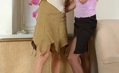 Pantyhose 1 Gertie & Viola Leggy Chicks In Control Top Hose Tongue Kissing And Playing Lesbian Games Pantyhose 1