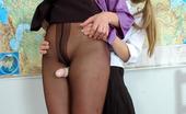 Pantyhose 1 Florence & Rosaline Nasty Schoolgirl In Black Pantyhose Getting To Hot Dildo Fun With A Teacher Pantyhose 1