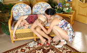 Pantyhose 1 Laura & Florence Heated Babes In Barely Visible Hose Getting To Facesitting And Pussy Eating Pantyhose 1