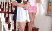 Pantyhose 1 Joanna & Rosa Naive Schoolgirl Clad In Light Grey Tights Getting Licked By Horny Lez Babe Pantyhose 1