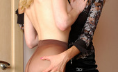 Pantyhose 1 Nora & Paulina Heated Lesbian Gals Going Down For Tongue Job With Their Sheer Pantyhose On Pantyhose 1